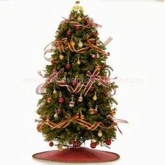 My Projects In Miniature: Miniature Dollhouse Christmas Tree - Making Your Own - Tutorial