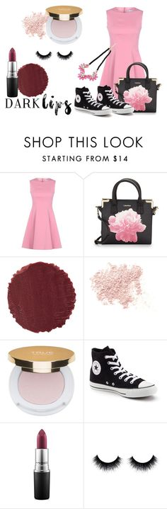 """""""Dark Lips"""" by whollychicstyles94 ❤ liked on Polyvore featuring beauty, RED Valentino, Calvin Klein, Burberry, Bare Escentuals, Isaac Mizrahi, Converse, MAC Cosmetics and darklips"""