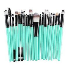 Malloom 20 Pcs Pinceau De Maquillage Outils De Set De Maquillage Trousse De Toilette De Laine Pinceau De Maquillage Ensemble