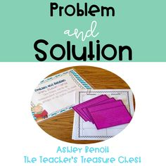 Problem and Solution Lesson Plans