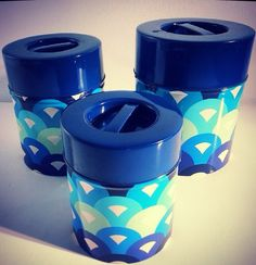 Retro 70s mod tin canisters