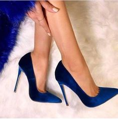 BIGTREE shoes Women's high heels pumps Blue heels Female party shoe ladies stiletto pointed fashion zapatos de mujer in 2020 High Heel Pumps, Pumps Heels, Stiletto Heels, Blue Pumps, Flats, Navy Blue High Heels, Magenta Heels, Royal Blue Heels, Blue Stilettos