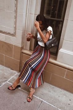 No matter your personal style a 90's inspired sandals is a major must-have for spring-summer #sandals Striped Pants, Striped Tights, Stripped Pants, Stripe Pants