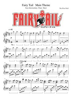 Fairy Tail - Main Theme - Easy-Intermediary Piano Sheet