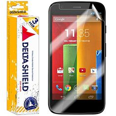 [3-PACK] DeltaShield BodyArmor - Motorola Moto G Screen Protector - Premium HD Ultra-Clear Cover Shield with Lifetime Warranty Replacements - Anti-Bubble
