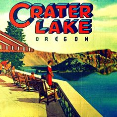 Etsy - Photography CRATER LAKE vintage Oregon home art deco decor print blue red color summer beach lover gift Nostalgia National Park Posters, National Parks, Crater Lake Oregon, Crater Lake National Park, Oregon Travel, Travel Usa, Art Deco Decor, Lake Art, Nature Posters
