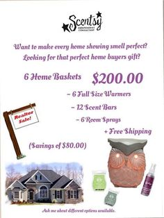 Realtor Flyer ~ Order Today at: ~ https://charneff.scentsy.us Follow me on FB at: https://www.facebook.com/charneff.scentsy