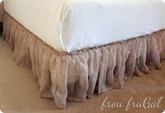 How to make a Bed Skirt out of a Window Scarf