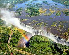 Cataratas Victoria- Frontera entre Zambia y Zimbabue, África