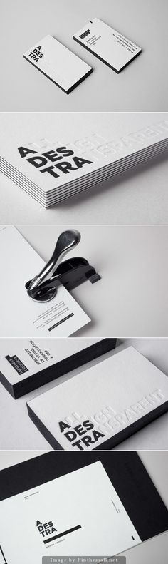 Minimalist, black and white business card design