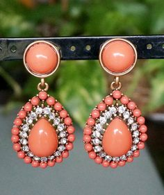 Vtg. KENNETH LANE Faux Coral Earrings by GlamVintageBoutique