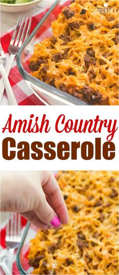 Amish Country Casserole recipe from The Country Cook