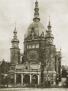 Great Synagogue Danzig - History of the Jews in Gdańsk Synagogue Architecture, Architecture Old, Classical Architecture, Historical Architecture, Danzig, Jewish History, Jewish Art, Jewish Synagogue, Germany And Prussia