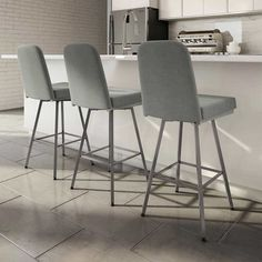 Amisco Spoon Grey Bar and Counter Stool