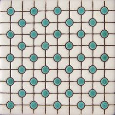 puntos verdes brillantes tile. with black grout.  love. it.