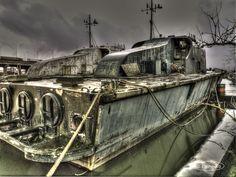 HDR - Old Danish Fast Patrol Boats - Vosper Brave class - P513 SØHESTEN and P514 SØHUNDEN (1966 - 1990) now at the Antwerp port