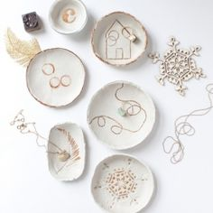 Diy stamped air dry clay bowls clay bowl air dry clay and clay these do it yourself clay bowls are good for nearly everythinga catch solutioingenieria Images