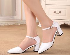 Womens Cool Classy Ankle Strap Heels – ShoeSity