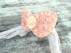 Pink Rose Headband Marie Antoinette Let them eat cake headband Victorian Pink Pearl Beaded Bow Hair accessory