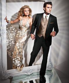 Slim Fit Peak  #Prom #Tuxedo www.GQTUX.com