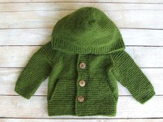 Hooded Boys Sweater Baby Boy Clothes Toddler by SilverMapleKnits