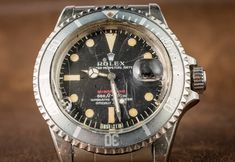 A Vintage Rolex 'Red Submariner' Watch With An Actual History Of Military…