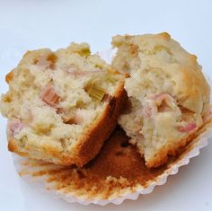 Rhubarb muffins - these are delicious and easy to make when rhubarb is in season.