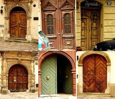 Love these doors in Poland Cool Doors, Unique Doors, Entrance Doors, Front Doors, Historical Monuments, Central Europe, Heritage Site, Facade, Arch