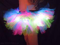 Neon Lights Light Up Tutu EDC Rave wear Club-wear Dance costumes www.tutufactory.co.uk