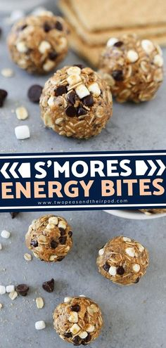 Looking for a healthy dessert that would satisfy your sweet tooth? S'mores Energy Bites are an easy no-bake snack that only takes 10 minutes to make! Kids and adults love these high protein energy balls. This delicious healthy recipe will give you a boost of energy all throughout the day. High Protein Meal Prep, High Protein Recipes, Easy Healthy Recipes, Healthy Desserts, Healthy Meals, Healthy Eating, Whole Food Desserts, Whole Food Recipes, Snack Recipes