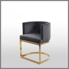 Shop Milani Occasional Chair Navy at Interiors Online. Exclusive High End Furniture.