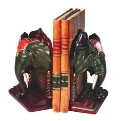 African Elephant Bookends - 0579-B
