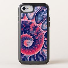 Purple Nautilus Art Speck iPhone Case