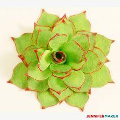 How to Make Felt Succulents That Are Easy! | Felt Plants | Free Cricut SVG Cut File