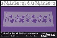 Schablone XL Bordüre Efeu Blätter Ranke Rebe -LB39 von Lunatik-Style via dawanda.com