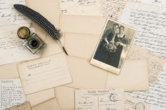 Vintage letters and postcards by LiliGraphie on Creative Market