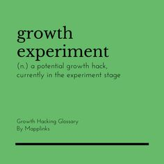 A potential growth hack, currently in the experiment stage. Growth Hacking, Event Marketing, Experiment, Stage