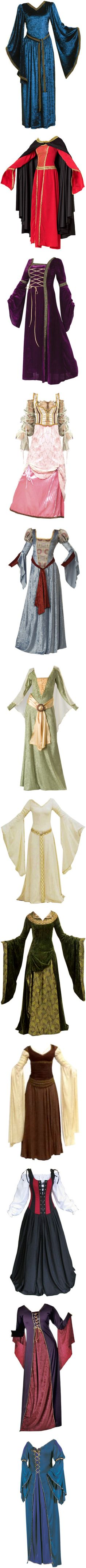"""Medival Gowns II"" by savagedamsel ❤ liked on Polyvore"