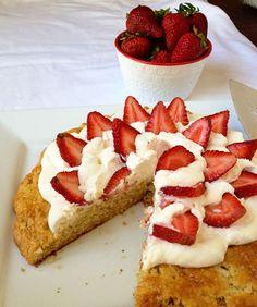Strawberry Shortcake Cake with Mascarpone Cream