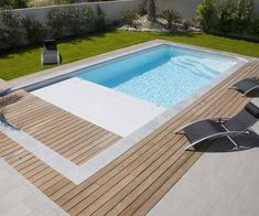 Swimming Pool Designs, Swimming Pools, Exterior, Spa, Deck, Architecture, Outdoor Decor, Flowers, Home Decor
