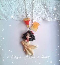 Collana sirena mermaid Biancaneve