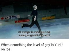 Level of Gay in YOI, enough to make even me, a man pregnant. Such Eros