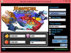 Monster Legends Cheat Hack [gems, gold, food generator, map unlocker, exp adder]…