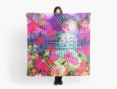 """""""Holiday Abstract Painting"""" Scarves by jaggerstudios Iphone Wallet, Iphone Cases, Chiffon Tops, Scarves, Throw Pillows, Abstract, Holiday, Pattern, Stuff To Buy"""