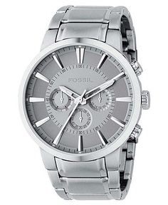 Fossil Watch, Men's Chronograph Stainless Steel Bracelet FS4359 - Men's Watches - Jewelry & Watches - Macy's
