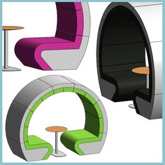 Thought Wheel (Autodesk Revit Architecture 2012 Families) - urBIM Revit Components Revit Family, 3d Modeling Programs, Dinosaur Play, Revit Architecture, Booth Seating, Dinosaurs, Families, Chairs, Home