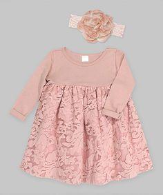 Look at this #zulilyfind! Tesa Babe Misty Rose Gabriella Lace Dress & Headband - Infant by Tesa Babe #zulilyfinds