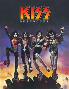 """KISS """"Destroyer"""" Album Stand-Up Display - Kiss Band Kiss Collectibles Memorabilia Gift Idea Retro Poster Pintrest kiss76"""