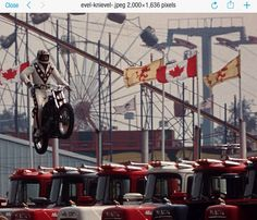 Evel Jumping In Toronto A Practice Jump Before His Jump Over 13 Mack Trucks That Evening This Was His Last Jump Prio Mack Trucks Evil Kenevil Back In The Day