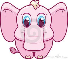 Illustration about A cute cartoon baby elephant. Illustration of head, magenta, petal - 7864486 Cartoon Baby Animals, Cartoon Elephant, Baby Elephant, Cute Baby Animals, Cute Cartoon Pictures, Funny Pictures, Elephant Pictures, Happy Cartoon, Animals Images